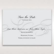 Silver/Gray Traditional Birde and Groom - Save the Date - Wedding Stationery - 85