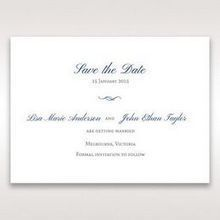 White Something Old and Blue - Save the Date - Wedding Stationery - 13