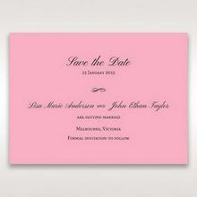 Pink Pretty in Pink Modern Couture - Save the Date - Wedding Stationery - 91