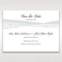 Pink Urban Couture with Jewels - Save the Date - Wedding Stationery - 3