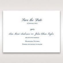 Blue Classic Embossed with a Brooch - Save the Date - Wedding Stationery - 28
