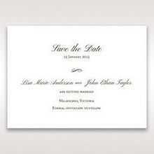 Brown Embossed Classic Couture, Gold - Save the Date - Wedding Stationery - 70