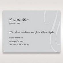 Silver/Gray Elegant Swirls; Silver & White - Save the Date - Wedding Stationery - 90