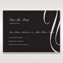 Black  Elegant Swirls, Silver & White - Save the Date - Wedding Stationery - 44