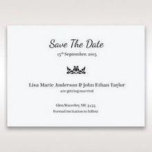 White Laser Gated Elegance Laser Cut Pocket - Save the Date - Wedding Stationery - 39