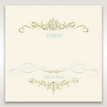Yellow/Gold Regal Splendor - Table Number Cards - Wedding Stationery - 34