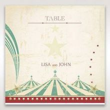 Red Big Top Celebration - Table Number Cards - Wedding Stationery - 7