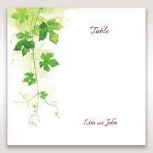 Green Natural Ivy - Table Number Cards - Wedding Stationery - 88