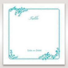 Blue Romantic Modern Floral - Table Number Cards - Wedding Stationery - 36