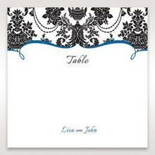 Black Black Grandeur - Table Number Cards - Wedding Stationery - 11