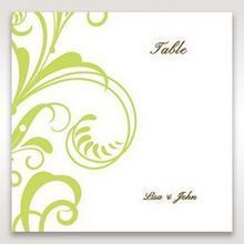 Green Sophisticataed Vintage Swirls - Table Number Cards - Wedding Stationery - 83
