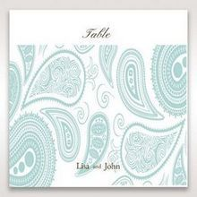 Blue Vintage Swirls - Table Number Cards - Wedding Stationery - 96