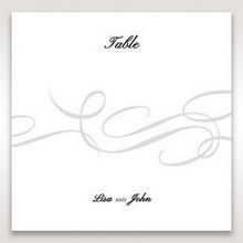 Black Traditional Birde and Groom - Table Number Cards - Wedding Stationery - 10