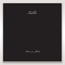 Black  Elegant Swirls, Silver & White - Table Number Cards - Wedding Stationery - 16