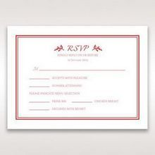 Red Old-fashioned Romance - RSVP Cards - Wedding Stationery - 19