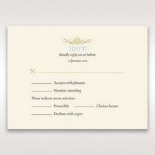 Yellow/Gold Regal Splendor - RSVP Cards - Wedding Stationery - 12