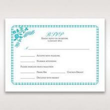 Blue Romantic Modern Floral - RSVP Cards - Wedding Stationery - 51