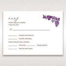 Purple Royal Purple Winery - RSVP Cards - Wedding Stationery - 49