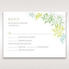 Green Natural Attraction - RSVP Cards - Wedding Stationery - 89