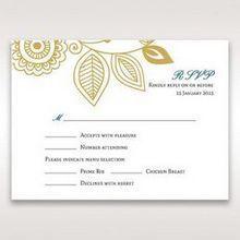 Yellow/Gold Splendid Golden Swirls - RSVP Cards - Wedding Stationery - 39