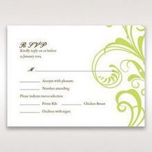 Green Sophisticataed Vintage Swirls - RSVP Cards - Wedding Stationery - 94
