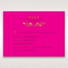 Pink Wild Floral Wreath - RSVP Cards - Wedding Stationery - 50