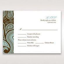 Blue Vintage Swirls - RSVP Cards - Wedding Stationery - 18