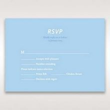 Blue Side by Side - RSVP Cards - Wedding Stationery - 97