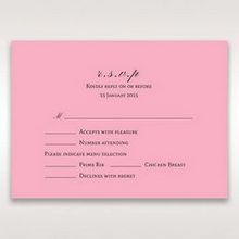 Pink Pretty in Pink Modern Couture - RSVP Cards - Wedding Stationery - 66