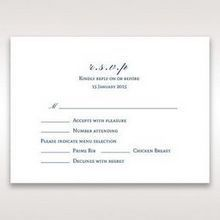 Purple Romantic Elegance, Couture - RSVP Cards - Wedding Stationery - 32