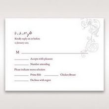 Pink Embossed Romantic Couture, Pink - RSVP Cards - Wedding Stationery - 48