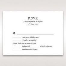 White Romantic Laser Cut - RSVP Cards - Wedding Stationery - 76