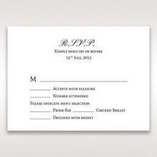 Silver/Gray Kinne Ivory - RSVP Cards - Wedding Stationery - 71