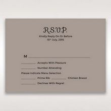 Silver/Gray Laser Peacock Laser Cut Pocket With Foil - RSVP Cards - Wedding Stationery - 28