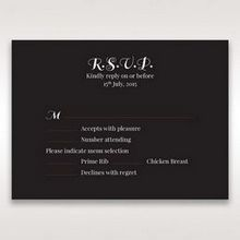 Black Vintage Rose Layered Laser Cut - RSVP Cards - Wedding Stationery - 14