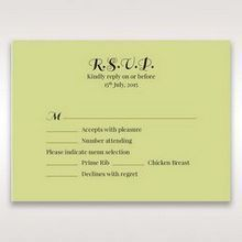 Green Laser Vintage Rose Layered Laser Cut - RSVP Cards - Wedding Stationery - 60