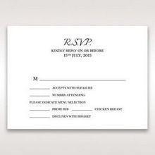 Black Laser Contempo Laser Cut Pocket - RSVP Cards - Wedding Stationery - 75