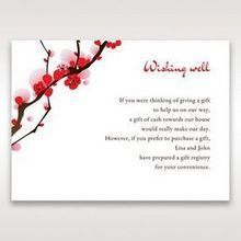 Red Plum Blossoms - Wishing Well / Gift Registry - Wedding Stationery - 27