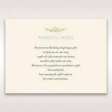 Yellow/Gold Regal Splendor - Wishing Well / Gift Registry - Wedding Stationery - 70