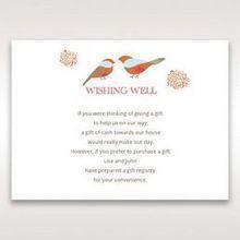 Red Love Birds - Wishing Well / Gift Registry - Wedding Stationery - 84