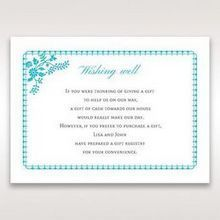 Blue Romantic Modern Floral - Wishing Well / Gift Registry - Wedding Stationery - 51