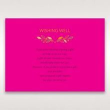 Pink Wild Floral Wreath - Wishing Well / Gift Registry - Wedding Stationery - 92