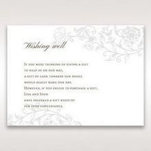 Green Romatic Couture with Pearls - Wishing Well / Gift Registry - Wedding Stationery - 99