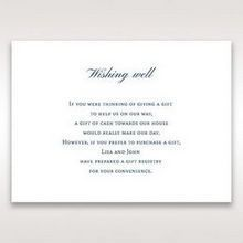 Blue Classic Embossed with a Brooch - Wishing Well / Gift Registry - Wedding Stationery - 75