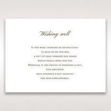 Brown Embossed Classic Couture, Gold - Wishing Well / Gift Registry - Wedding Stationery - 78