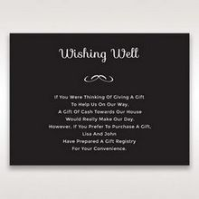 Black Laser Peacock Laser Cut Pocket With Foil - Wishing Well / Gift Registry - Wedding Stationery - 2