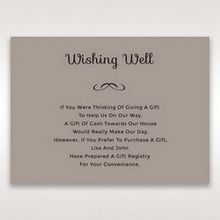 Silver/Gray Laser Peacock Laser Cut Pocket With Foil - Wishing Well / Gift Registry - Wedding Stationery - 2