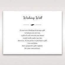 White Mystic Forest Laser Cut Wrap II - Wishing Well / Gift Registry - Wedding Stationery - 6