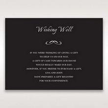 Black Laser Contempo Laser Cut Pocket - Wishing Well / Gift Registry - Wedding Stationery - 89