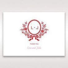 Red Old-fashioned Romance - Thank You Cards - Wedding Stationery - 21